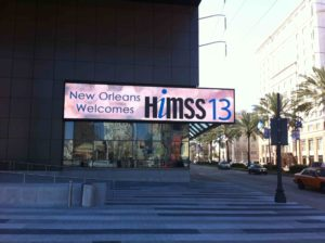 HIMSS13 Sign Convention Ctr Blog 2