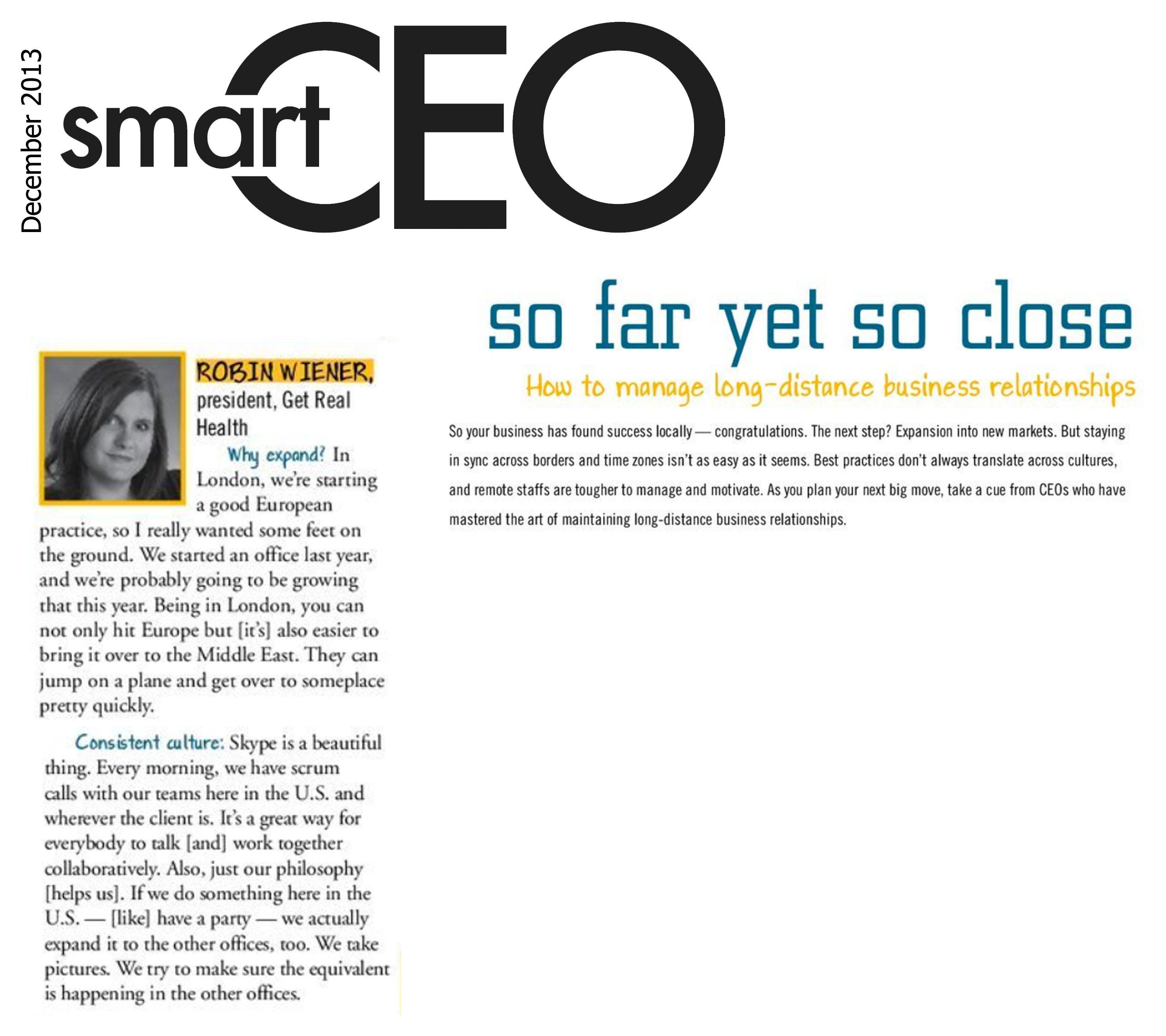 Robin Wiener in Smart CEO