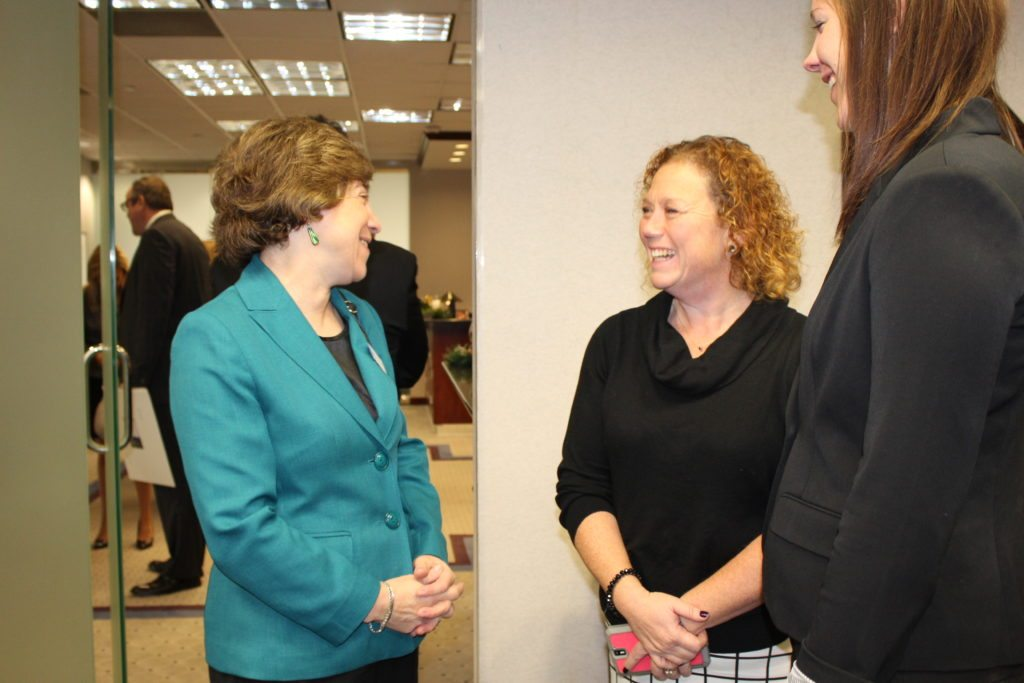 Joan Kleinman, District Director, Office of Rep. Chris Van Hollen with Get Real Health's Christina Nash and Jennifer Dunphy