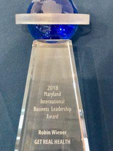2018 Maryland International Business Leadership Award